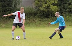 Jamie Lyden has time to consider his options (Stevie Doogan) Tags: clydebank glasgow perthshire exsel group sectional league cup wednesday 10th august 2016 holm park