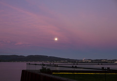 (Kate Farquharson) Tags: museumofoldandnewart mona tasmania canon5dmarkiii sunset moon sky hobart