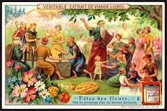 Liebig Tradecard S927 - Ancient German Flower Festival (cigcardpix) Tags: tradecards advertising ephemera vintage chromo liebig