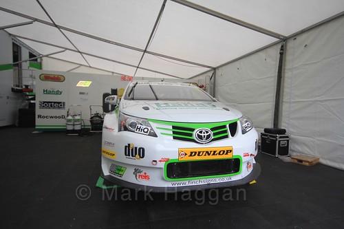 The Handy Motorsport garage at the BTCC Knockhill Weekend 2016