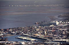Industrial (Andy Tee) Tags: birkenhead landscape docks from the air aerial photography hdr liverpool river mersey tranmere oil terminal cammell laird ship ships yard sand banks