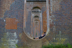 Underneath The Arches (Ant Danbury) Tags: bridge viaduct railways ouse riverouse greatouseviaduct ardingly surrey countryside brickwork perspective infinity