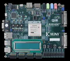 Genesys Virtex-5 FPGA Development Board (Digilent, Inc.) Tags: design video highresolution board platform memory impact usb circuits ethernet audio development highspeed genesys fpga xilinx virtex highperformance digilent virtex5