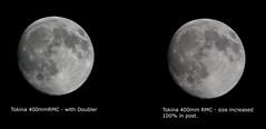 Tokina - Moon shots (stugee) Tags: 2 sky moon white black night lens photography long fuji x astro tokina telephoto fujifilm f56 lunar rmc e2 xe 400mm xe2