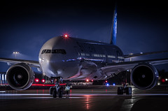 Air France B777-300 (360 Photography) Tags: night plane airplane montreal aviation boeing 777 dorval avion airfrance pushback yul 2015 b777 skyteam 080615 mathieupouliot fgznn af349