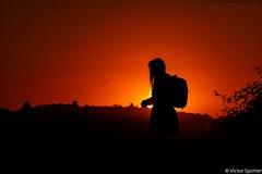 Sunset (Viictor B) Tags: blue light sunset red sky woman sun moon nature beautiful field sunshine silhouette yellow night lune plane sunrise canon wonderful photography photo exposure photographie shot time god live aviation awesome femme moment capture twlight avgeek