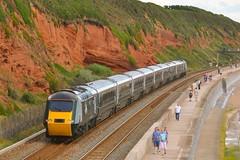 43041 43005 Dawlish 13/07/16 (yamdood91) Tags: uk train great rail railway western 43005 hst gwr dawlish 2016 class43 greenset 43041