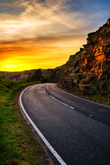 Road to the sun (technodean2000) Tags: road uk sun mountain wales nikon south vale ogmore lightroom d610 bwlch