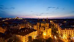 Prague Castle from the Vez Tower (CdnAvSpotter) Tags: prague czech republic night dusk vez tower landscape low light long exposure