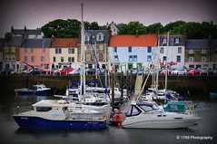 Anstruther Harbour (Rollingstone1) Tags: anstruther fife eastneuk scotland harbour fishing boats yachts sailing vessel outdoor sea boat houses shops buildings pontoon craft cars mast