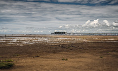 Southport Beach (Steve Millward) Tags: nikon d750 50mm primelens fx fullframe fixedfocallength sharp raw imagequality perspective england outdoor seaside holiday vacation sky cloud blue landscape scenic southport merseyside water pier beach summer