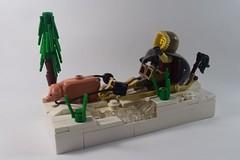 Winter Sledge (emperor.willmot) Tags: winter castle pig lego medieval sled sleigh