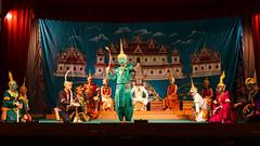 120. Laos. Luang Prabang. Thetre du palais royal. Extrait du Ramayana (beatrice.boutetdemvl) Tags: laos luang prabang thtre royal theater ramayana
