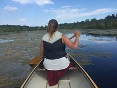 Canoe with Sandra