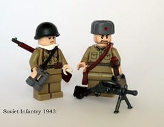 Soviet Infantry 1943 (planeT terrorR) Tags: lego soviet ww2 russian