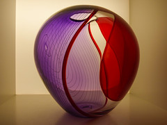 Fragile Art (Steve Taylor (Photography)) Tags: red newzealand sculpture brown art glass lines design pattern purple cabinet box nelson bowl lilac nz round vase mauve southisland swirl curve masterpiece 52 appleby lansdowneroad hglund hoglund hogland hugland huglund