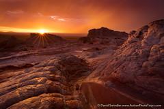 Rain Wind and Light (David Swindler (ActionPhotoTours.com)) Tags: sunset arizona storm color wet rain utah sunstar stormyskies vermillioncliffs whitepocket