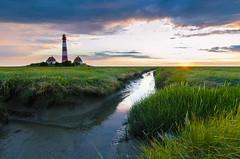 Westerhever sunset (Jenner Ka) Tags: westerhever lighthouse leuchtturm salzwiesen saltmeadows schleswigholstein