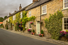 Quintessential England. (ian.emerson36) Tags: thorntonledale yorkshire northyorkshire england summer colourful cottages river picturesque flowers beauty stone photographic postcard canon