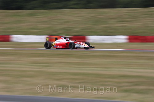 Nicolai Kjærgaard in British Formula 4 during the BTCC 2016 Weekend at Snetterton