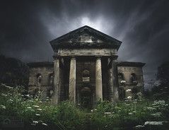 Darkest Delaval (kris greenwell) Tags: urbex arches creepy derelict england historic krisgreenwellphotography monument nikon northumberland overgrown ruins seatondelaval seatondelavalhall seatondelavalmausoleum seatonsluice stone uk