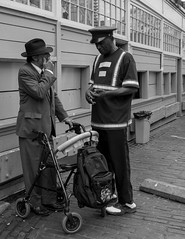 Seattle, WA. 2015 (Paul Millan) Tags: black blackwhite blackandwhite candid color pikeplacemarket seattle shadows streetphotography urban street streets people talking lines