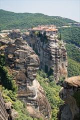 Greece 1423 - Meteora hills (Zarako) Tags: greece meteora trip brick church monastery mountain stone