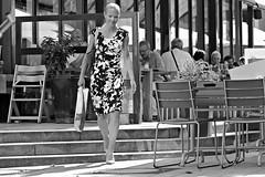 look with joy, afterwards (O.Krger) Tags: hannover niedersachsen deutschland germany streetphotography sw schwarzweis socialdocumentary streetlife monochrom bw bianconero blackwhite peopleinthecity people personen woman urban