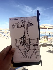 Baywatch in Liguria (matteotarenghi) Tags: tumblr baywatch tarenghi matteo spotorno urban sketching urbansketchers liguria