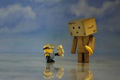 Tauschen? (fotospoekes) Tags: danbo minion banana mini puppet banane revoltech figur tabletop toy fun fimo fotospoekes