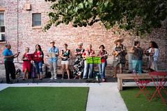Ukulele Orchestra (B. Gohacki) Tags: ukulele orchestra lancaster pennsylvania streetmusicians buskers pentax ricoh dslr k1 ebcfujinon 35mm f19 entertainers music group strings fujinon35mmf19